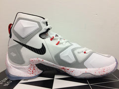 Nike Lebron 13 Friday the 13th Horror Flick Blood Splatter White Red 807219-106