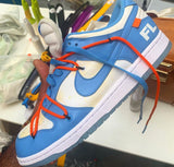 Nike Off-White Dunk Low Futura FL OW UNC Blue White 2020 - BONUS