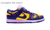 Nike Off-White Dunk Low OW Midnight Navy University Gold White - BONUS
