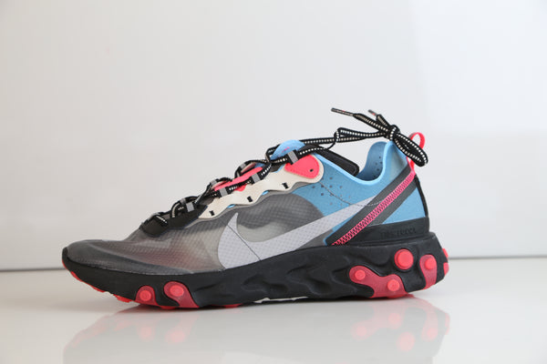 Nike React Element 87 Black Cool Grey Blue Chill AQ1090-006