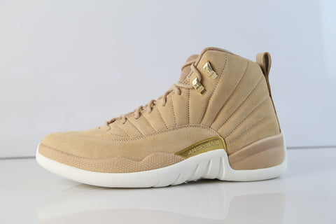 Nike Womens Air Jordan Retro 12 Vachetta Tan Metallic Gold AO6068-203