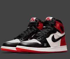 Nike Womens Air Jordan Retro 1 High OG Satin Black Toe CD0461-016 - BONUS