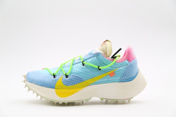 Nike Womens Off-White Vapor Street OW Polarized Blue Tour Yellow CD8178-400