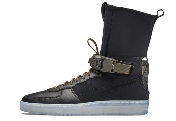Nike X Acronym Air Force AF1 Downtown HI SP Black Olive Clear 649941-003 (NO Codes)