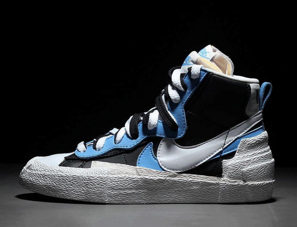Nike X Sacai Blazer Mid Black University Blue Sail White - BONUS