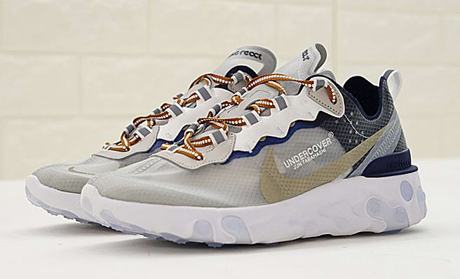 d08cc9bcba79 Nike X Undercover React Element 87 White Cream Blue AQ1813-343 - BONUS