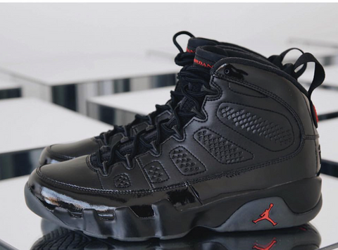 Nike Air Jordan Retro 9 Black Anthracite University Red Bred 2018 302370-014 Adult and GS PRE ORDER