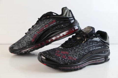Nike X Skepta Air Max Deluxe Black Red Custom Red Lettering AQ9945-001