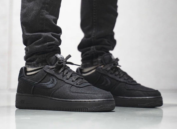 Nike x Stussy Air Force 1 Low Black CZ9084-001 (1rst Time Stussy Blk)(NO Store Credit) - BONUS
