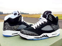Custom Nike Air Jordan Retro 5 Double Stuffed Oreo