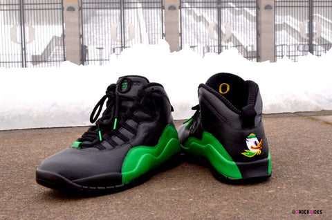 Custom Nike Air Jordan Retro X OREGON Quack