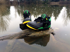 Custom Nike Air Jordan Retro III Oregon Ducks The Big O