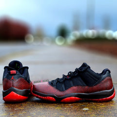 Custom Nike Air Jordan Retro XI Dirty Bred Snake 528895-033