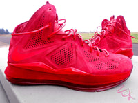 Custom Nike Lebron Suede EXT Red October