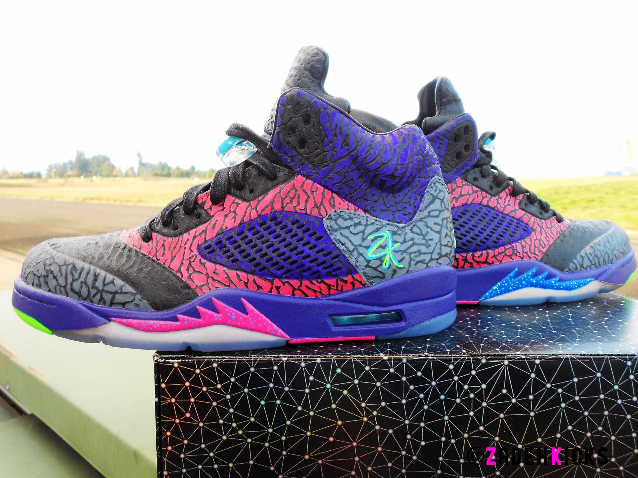 pretty nice 14e88 66f93 Custom Nike Air Jordan Fresh Prince Lab 3 5 Theme | Zadehkicks