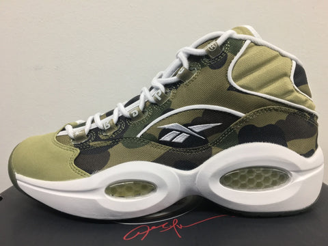 Reebok X Bape A Bathing Ape Question Mid Camo Green BD4232 (NO Codes)
