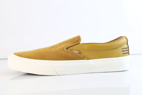Vans Taka Hayashi TH Slip On 66 LX LTHR NBCK Golden Brown VN0A3DPVOEV