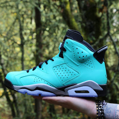 Custom Nike Air Jordan Retro 6 TIFF (you supply base shoe)