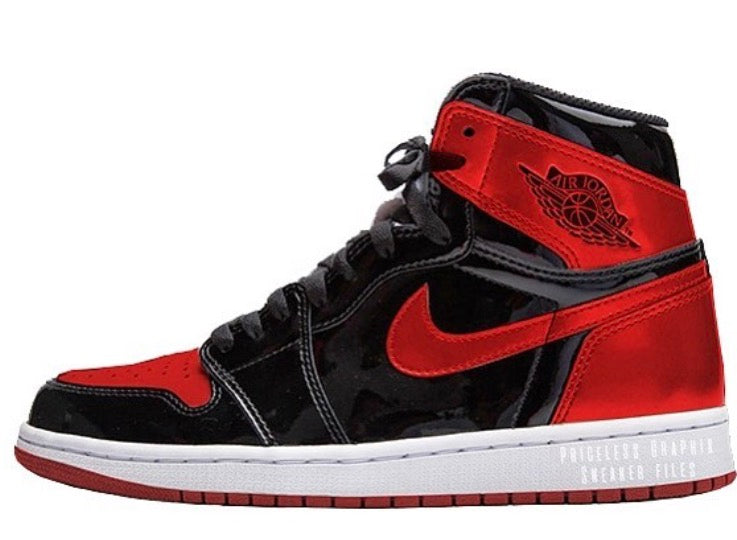 buy popular 2dd8c 175e8 Nike Air Jordan Retro 1 High OG NRG Bred Black University Red Patent P    Zadehkicks