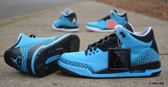Custom Nike Air Jordan Retro III Powder Blue