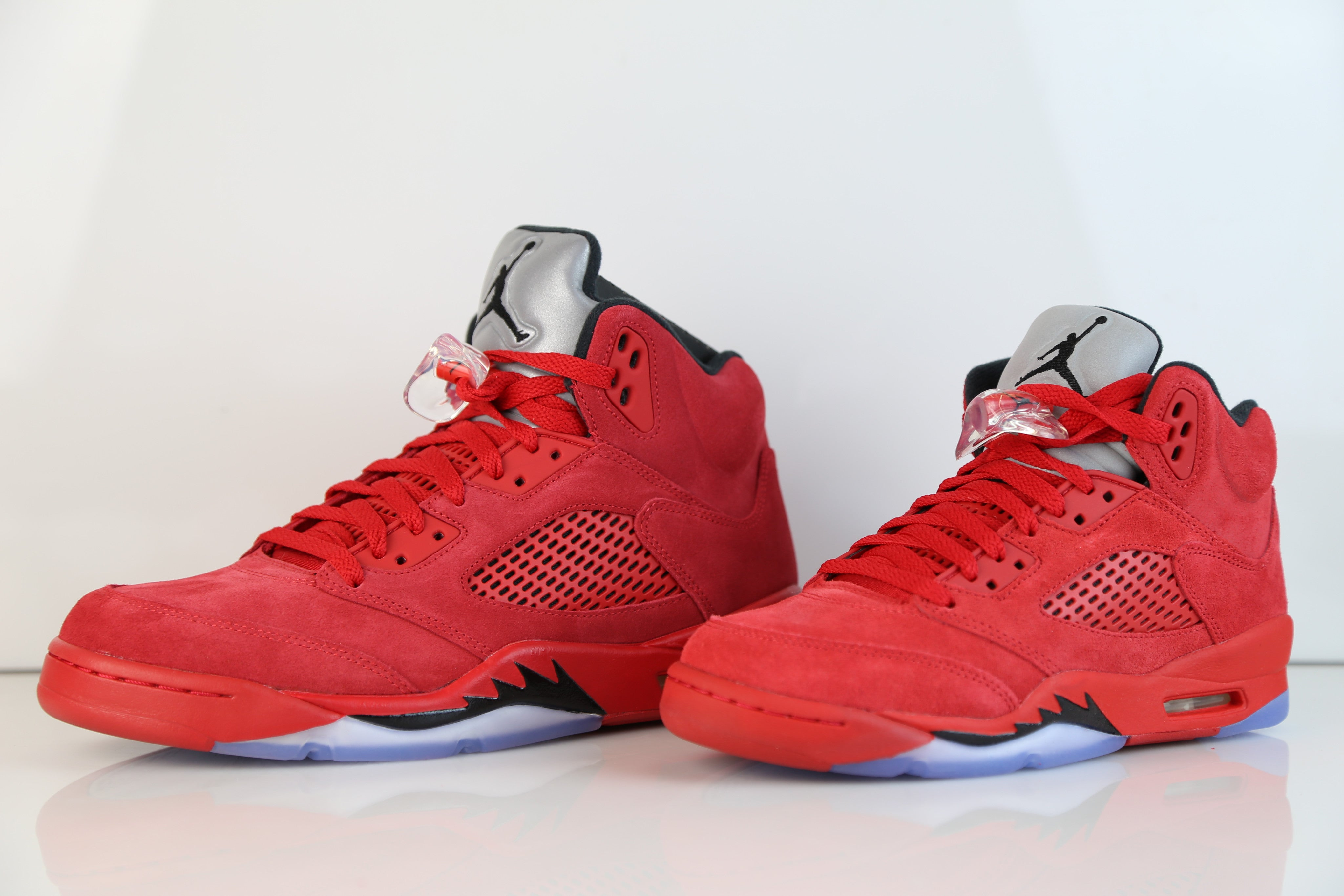 brand new a0d94 f0410 ... shop nike air jordan retro 5 suede university fire red raging bull 2017  adult and gs