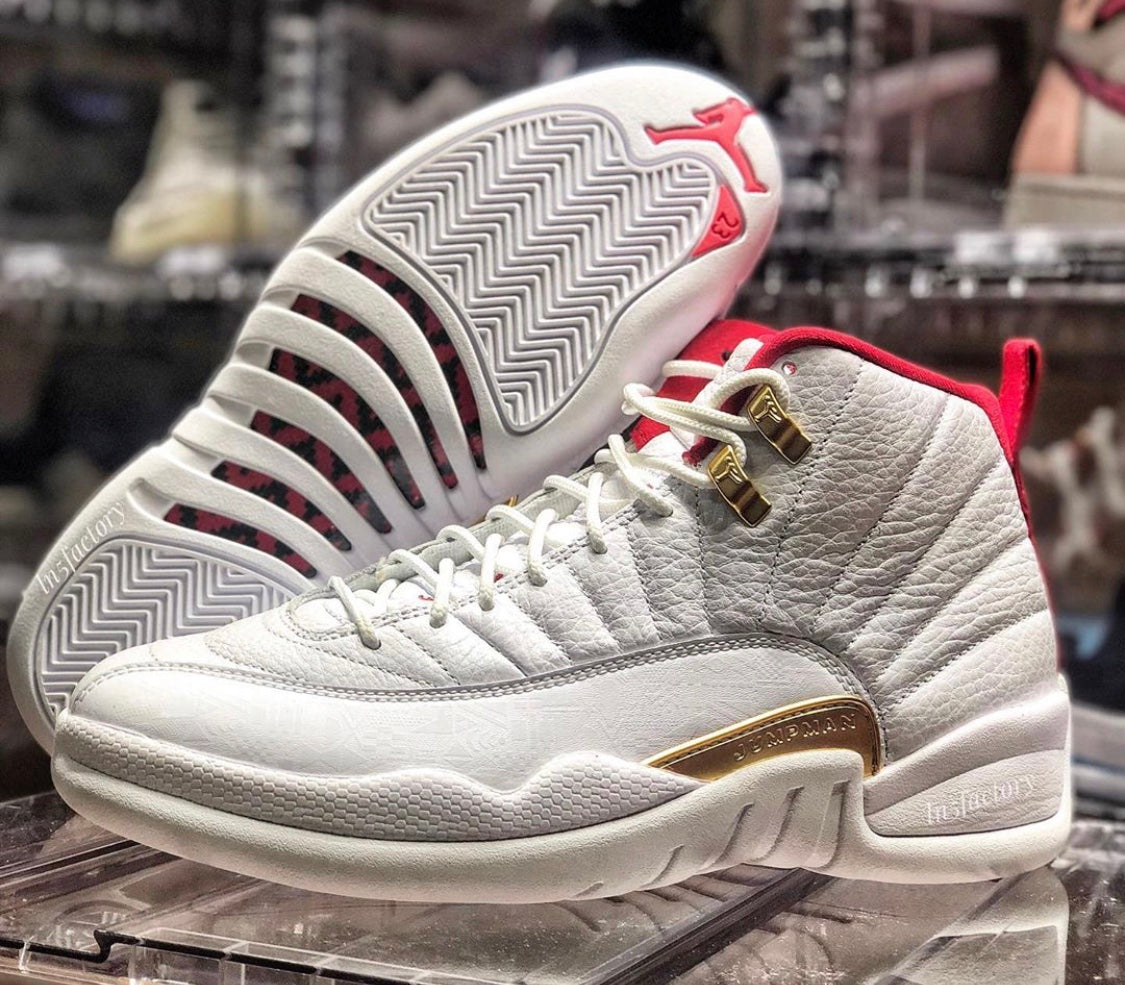best loved e0323 55862 Nike Air Jordan Retro 12 FIBA White University Red Gold ...