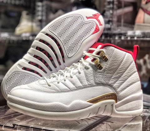 Nike Air Jordan Retro 12 FIBA White University Red Gold 130690-107 - PRE ORDER