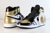 Nike Air Jordan Retro 1 High OG NRG All-Star Gold Toe Black 861428-007