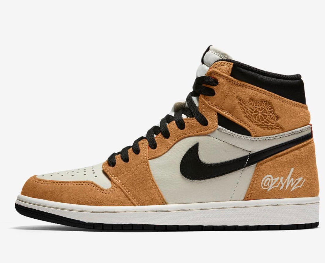 40a15d5d264 Nike Air Jordan Retro 1 High OG Wheat Toe Golden Harvest Sail Black RO |  Zadehkicks
