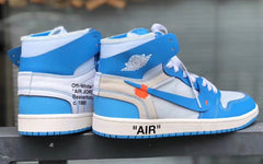 Nike Off-White Virgil Abloh Air Jordan Retro 1 High Part 2 White University Blue 2018 AQ0818-148