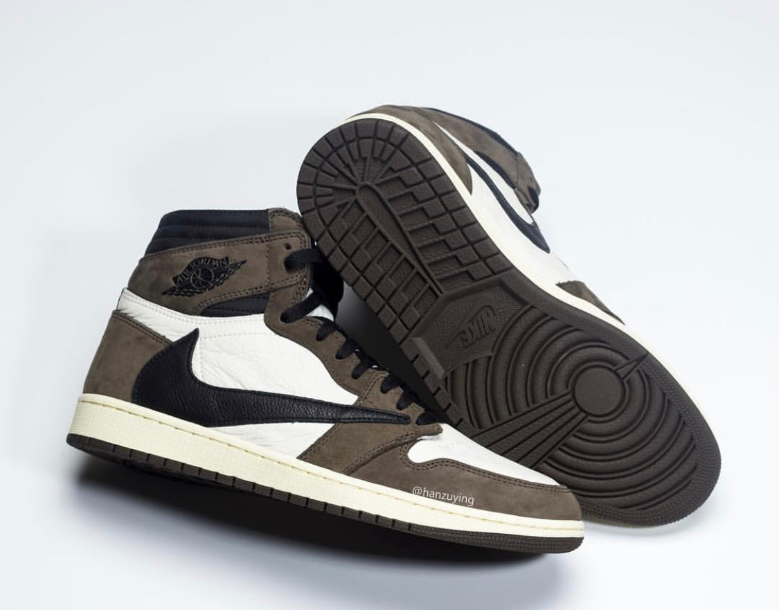 a71da586dd9695 Nike Air Jordan Retro 1 High OG X Travis Scott Black Brown 2019 (Ships  MAY+) PRE ORDER