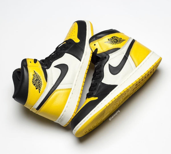 Nike Air Jordan Retro 1 High OG Yellow Toe 2019 - BONUS