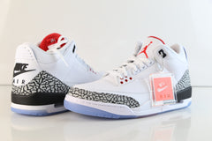 Nike Air Jordan Retro 3 NRG Free Throw Line White Cement Fire Red 923096-101