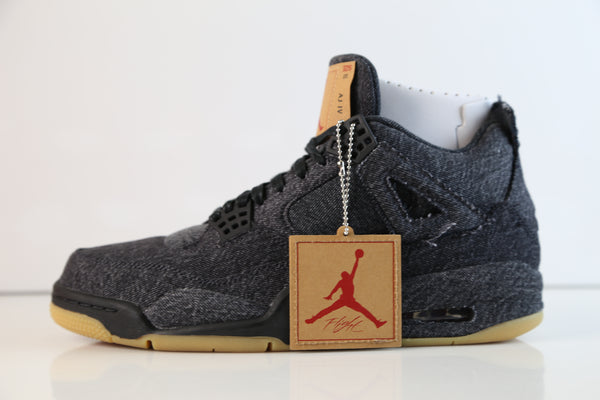 Nike Air Jordan Retro 4 RTR Levis NRG Black Denim BG GS Kids AQ9103-001