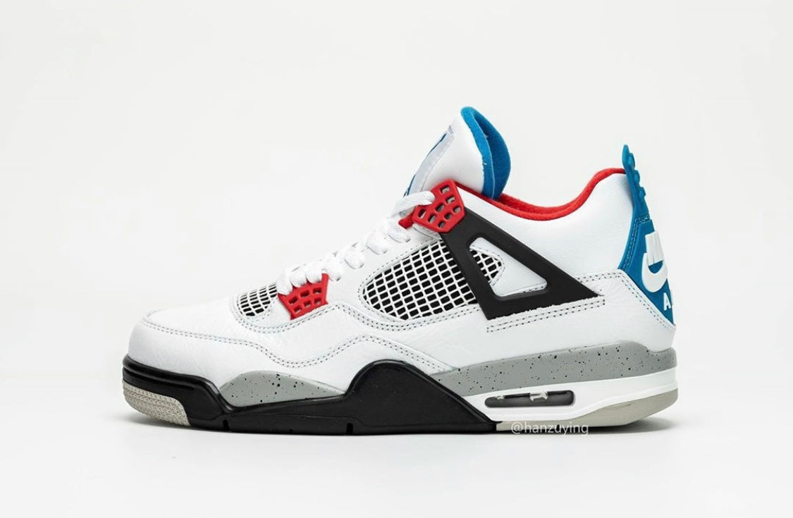 best website d0a9f 7a194 Nike Air Jordan Retro 4 What The White Fire Red Military ...