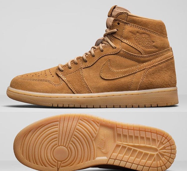 Nike Air Jordan Retro 1 High OG Wheat Element Gold Gum 555088-710 2017 Adult and GS PRE ORDER (NO Codes)