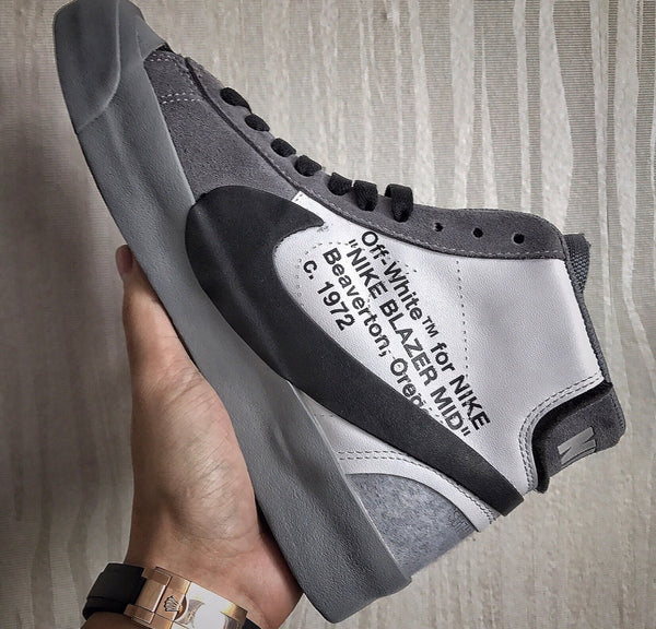 Nike Blazer Off-White Virgil Abloh Black Grey 2018 PRE ORDER