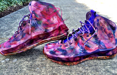 Custom Nike Lebron Suede EXT Abstract Floral
