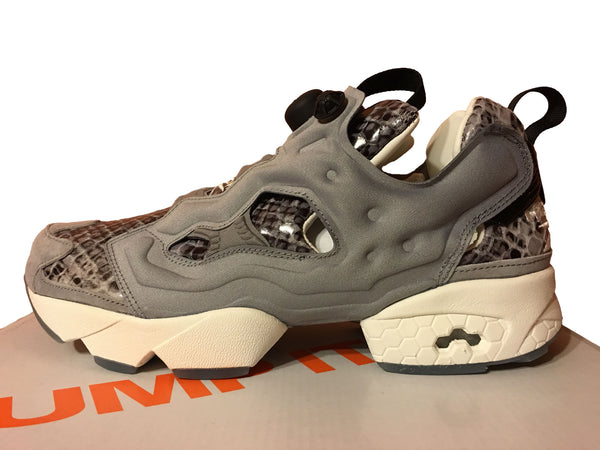 Reebok X Disney Womens The Jungle Book Instapump Fury Kaa JB Grey Coal AQ9214