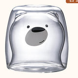 Upside Down Teddy Bear Glass