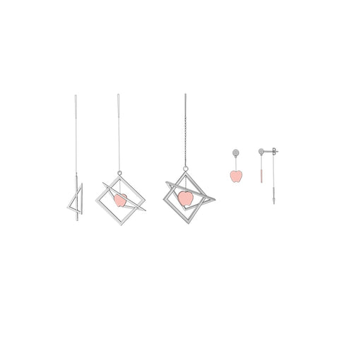 Abstract Gravity Earrings