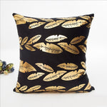 Gold Decorated Throw Pillow Covers