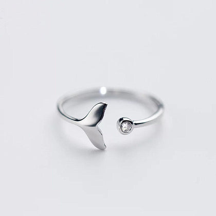 Mermaid's Tail Silver Ring