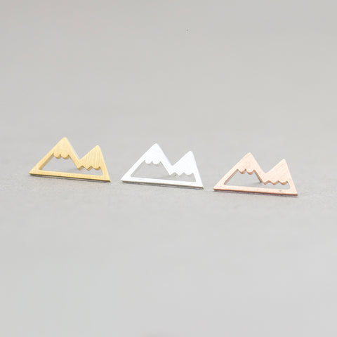 Minimalist Mountain Range Earrings