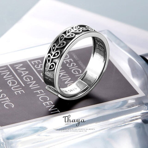 Endless Aura Silver Couples Rings
