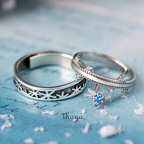Frozen Dreams Silver Snow Rings