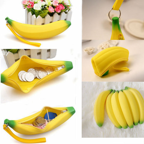 Cute Silicone Banana Pencil Case