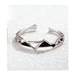 Abstract Chaos Silver Rings