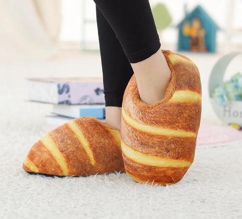 Fluffy Croissant Slippers