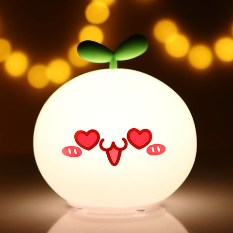 Cute Face Touch Sensor Night Light